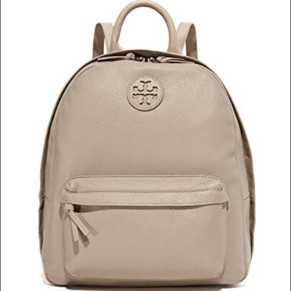 3f7d2f4ee5e2 Tory Burch Leather Backpack French Gray
